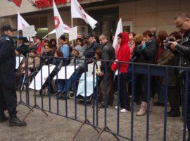 Protest la Bucuresti in fata Ministerului Sanatatii